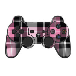 PS3 Controller Skin - Pink Plaid
