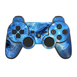 PS3 Controller Skin - Blue Quantum Waves