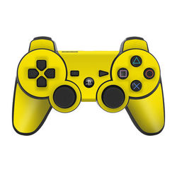 PS3 Controller Skin - Solid State Yellow