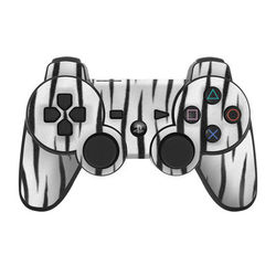 PS3 Controller Skin - White Tiger Stripes