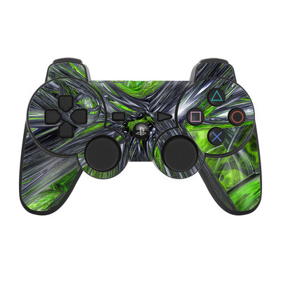PS3 Controller Skin - Emerald Abstract