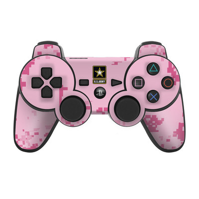 PS3 Controller Skin - Army Pink