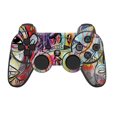 PS3 Controller Skin - Battery Acid Meltdown