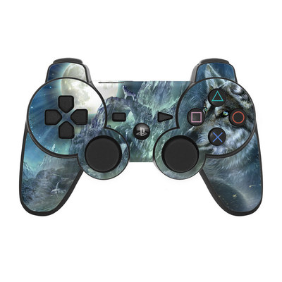PS3 Controller Skin - Bark At The Moon
