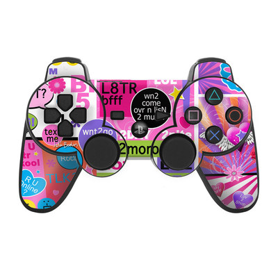 PS3 Controller Skin - BFF Girl Talk