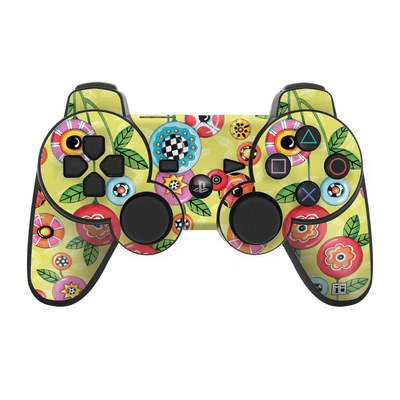 PS3 Controller Skin - Button Flowers