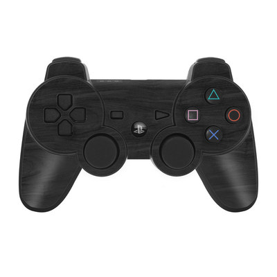 PS3 Controller Skin - Black Woodgrain