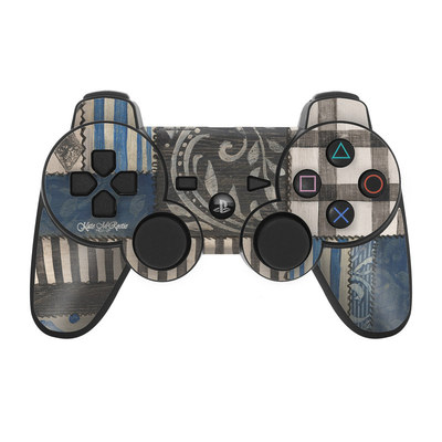 PS3 Controller Skin - Country Chic Blue