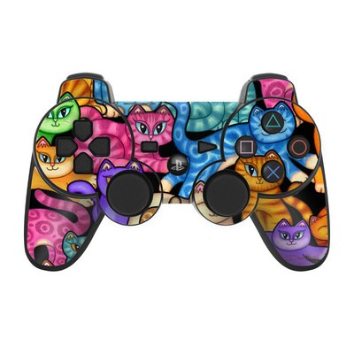 PS3 Controller Skin - Colorful Kittens
