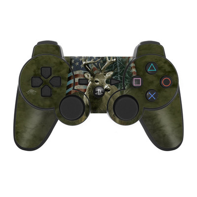 PS3 Controller Skin - Deer Flag