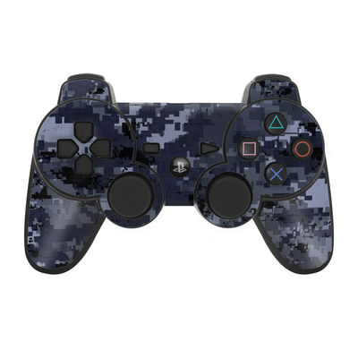 PS3 Controller Skin - Digital Navy Camo