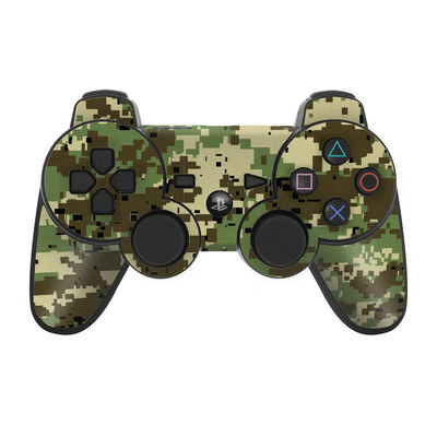 PS3 Controller Skin - Digital Woodland Camo