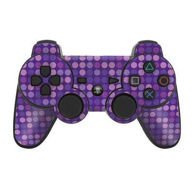 PS3 Controller Skin - Dots Purple