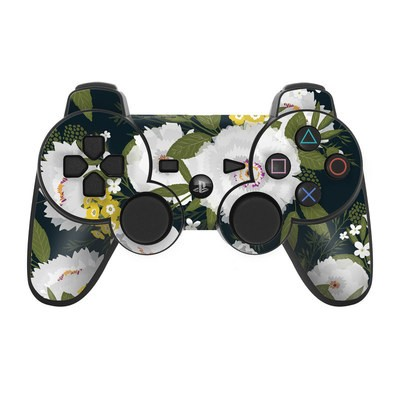PS3 Controller Skin - Fleurette Night