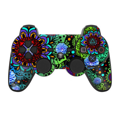 PS3 Controller Skin - Funky Floratopia
