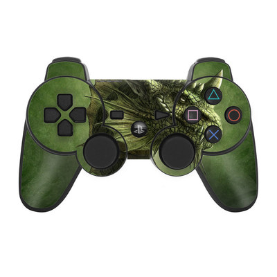 PS3 Controller Skin - Green Dragon