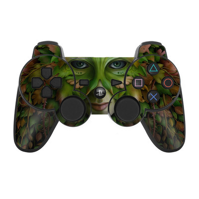 PS3 Controller Skin - Green Woman