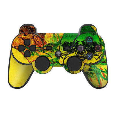 PS3 Controller Skin - Hot Tribal Skull