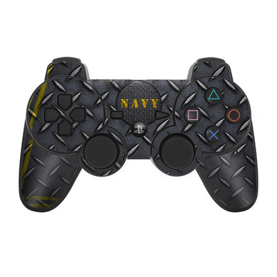 PS3 Controller Skin - Navy Diamond Plate