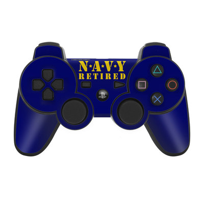 PS3 Controller Skin - Navy Retired