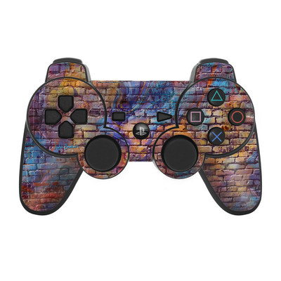 PS3 Controller Skin - Painted Brick