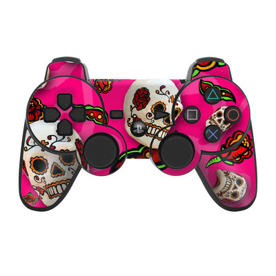 PS3 Controller Skin - Pink Scatter