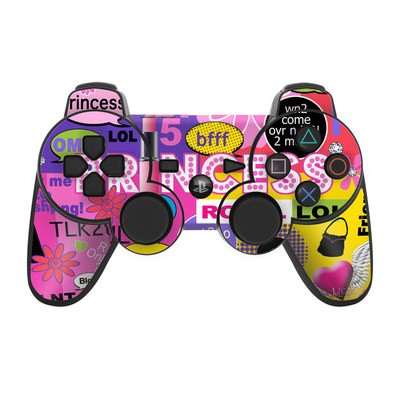 PS3 Controller Skin - Princess Text Me