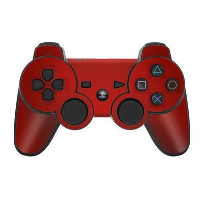 PS3 Controller Skin - Red Burst