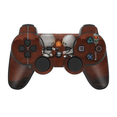 PS3 Controller Skin - Robots In Love