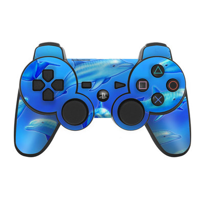 PS3 Controller Skin - Swimming Dolphins