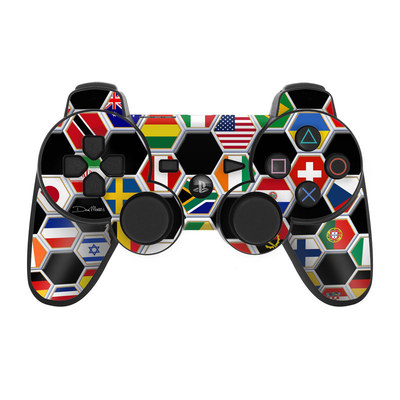 PS3 Controller Skin - Soccer Flags