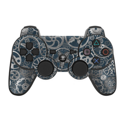 PS3 Controller Skin - Silver Gears