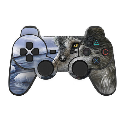 PS3 Controller Skin - Snow Wolves