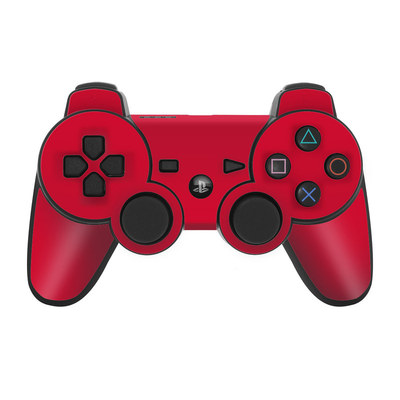 PS3 Controller Skin - Solid State Red