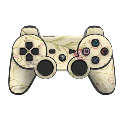 PS3 Controller Skin - Tulip Scroll