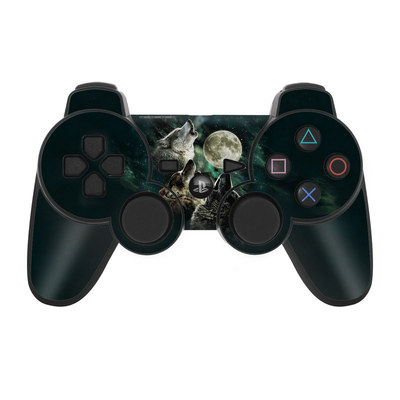 PS3 Controller Skin - Three Wolf Moon