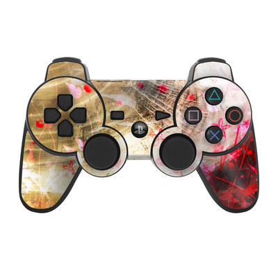 PS3 Controller Skin - Woodflower