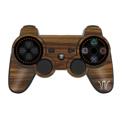 PS3 Controller Skin - Wooden Gaming System