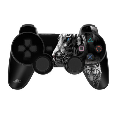PS3 Controller Skin - White Tiger
