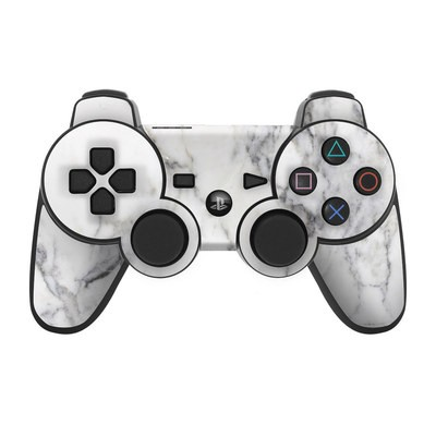 PS3 Controller Skin - White Marble