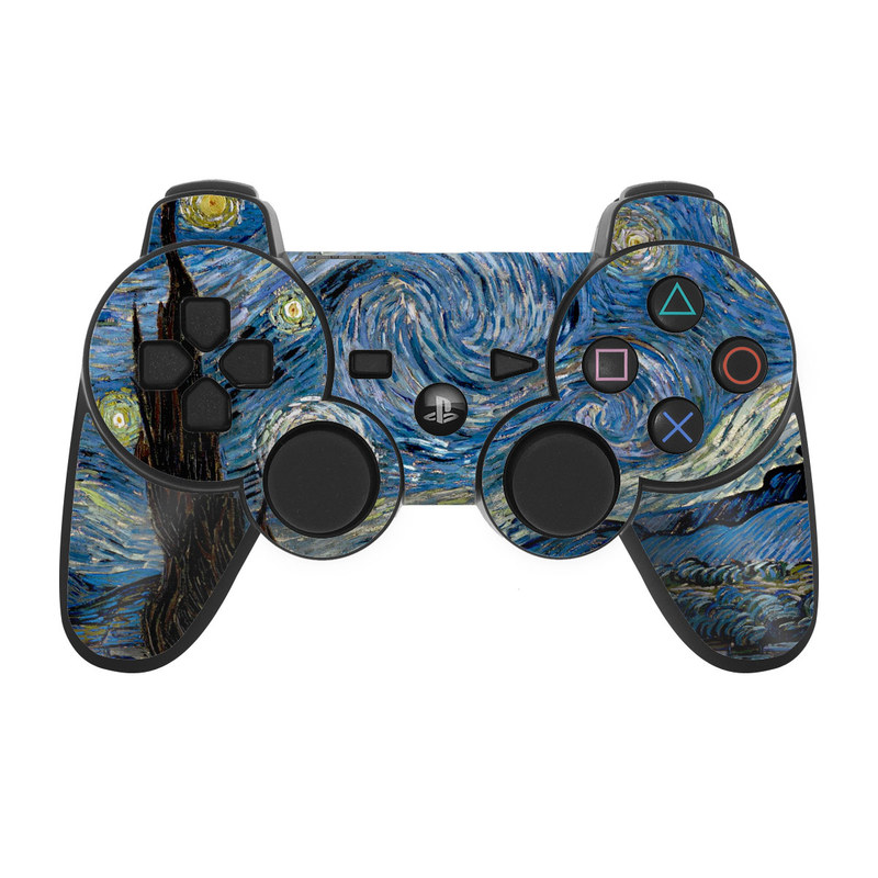 Ps3 Controller Skin Starry Night