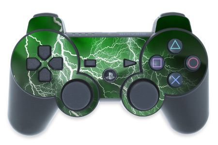 home playstation 3 skins decals controller ps3 controller skin    Playstation 3 Controller Green