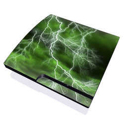 PS3 Slim Skin - Apocalypse Green