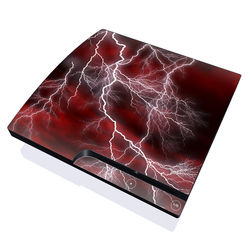 PS3 Slim Skin - Apocalypse Red
