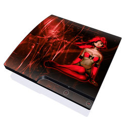 PS3 Slim Skin - Ghost Red