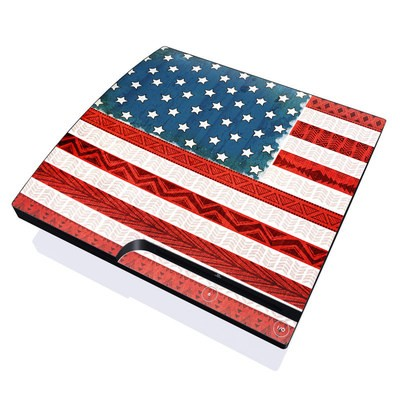 PS3 Slim Skin - American Tribe