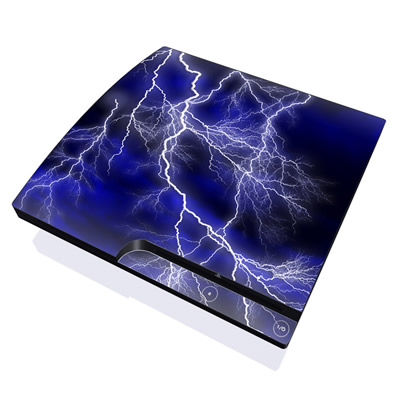 PS3 Slim Skin - Apocalypse Blue