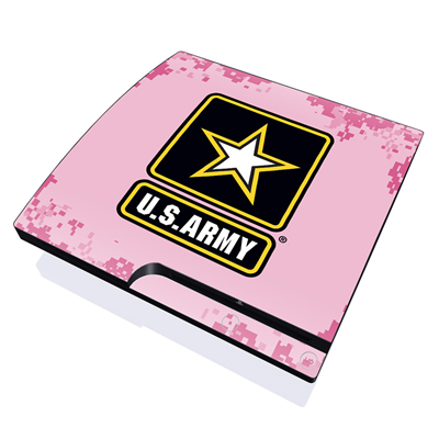 PS3 Slim Skin - Army Pink