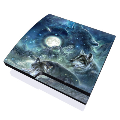 PS3 Slim Skin - Bark At The Moon