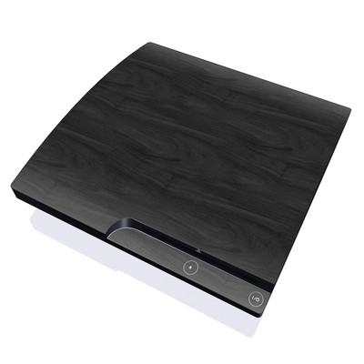 PS3 Slim Skin - Black Woodgrain